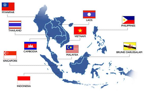 ASEAN mapa