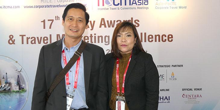 Jose Ting De Jesus i Ting Pornnapa Sastraruchi - Hotel Ramada Plaza Bangkok