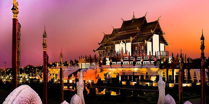 Royal Pavilion in Royal Park Rajapruek Chiang Mai